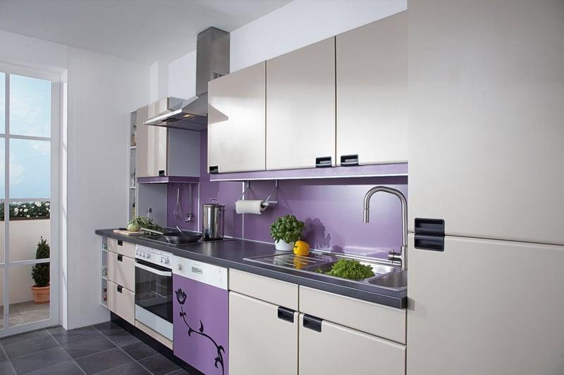 Wandpaneele Küche Violett