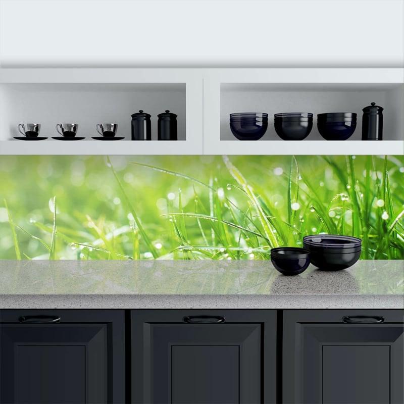 Küchenrückwand Gras sehr realistisch
