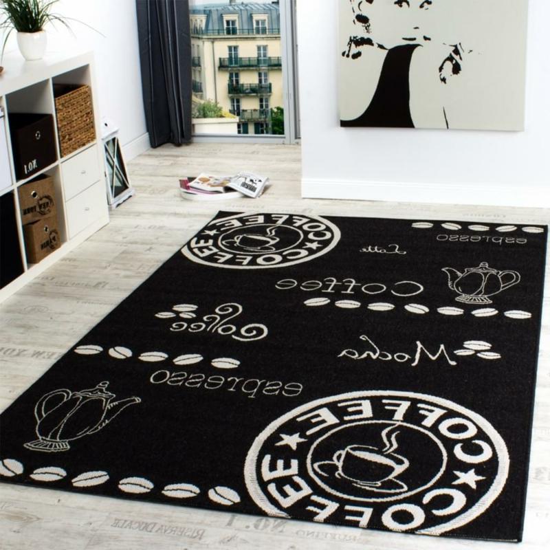Küchenteppich schwarz Kaffee