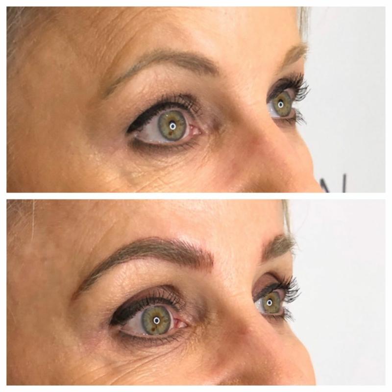 Augenbrauen formen alte Frau