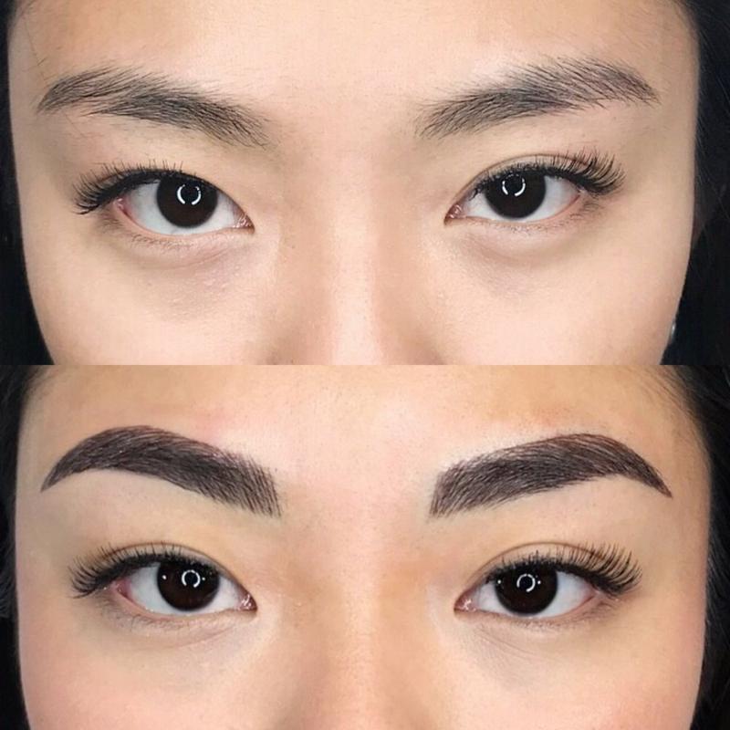 Augenbrauen formen voll und dicht