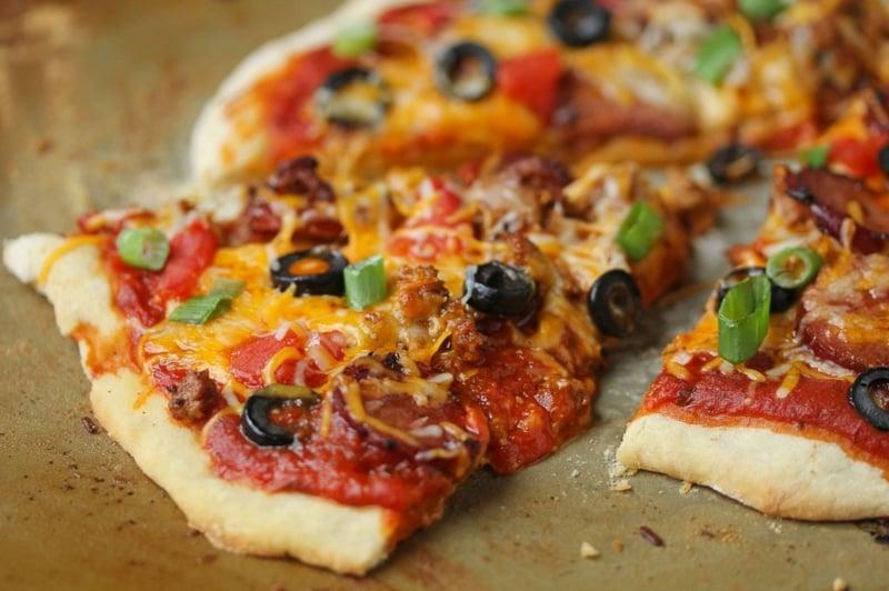 Pizza machen Schritt für Schritt