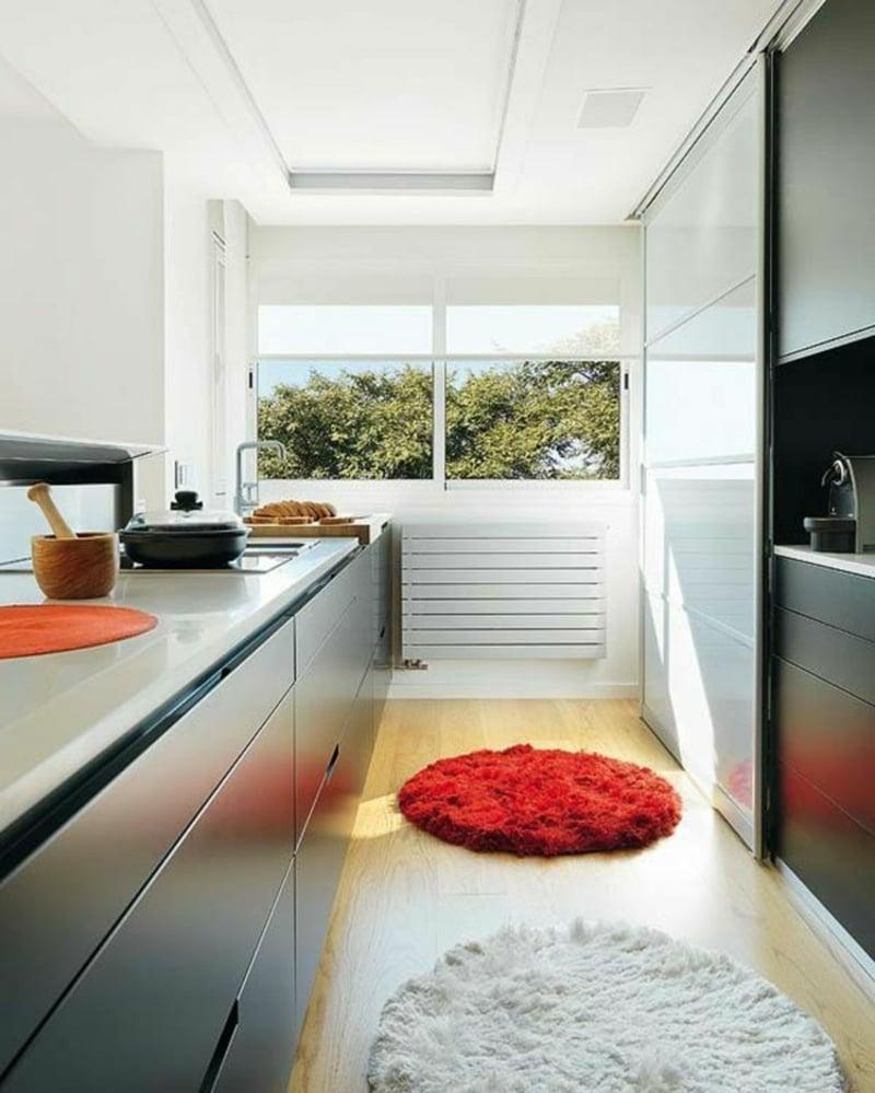 kleine runde Teppich Küche herrlicher Look