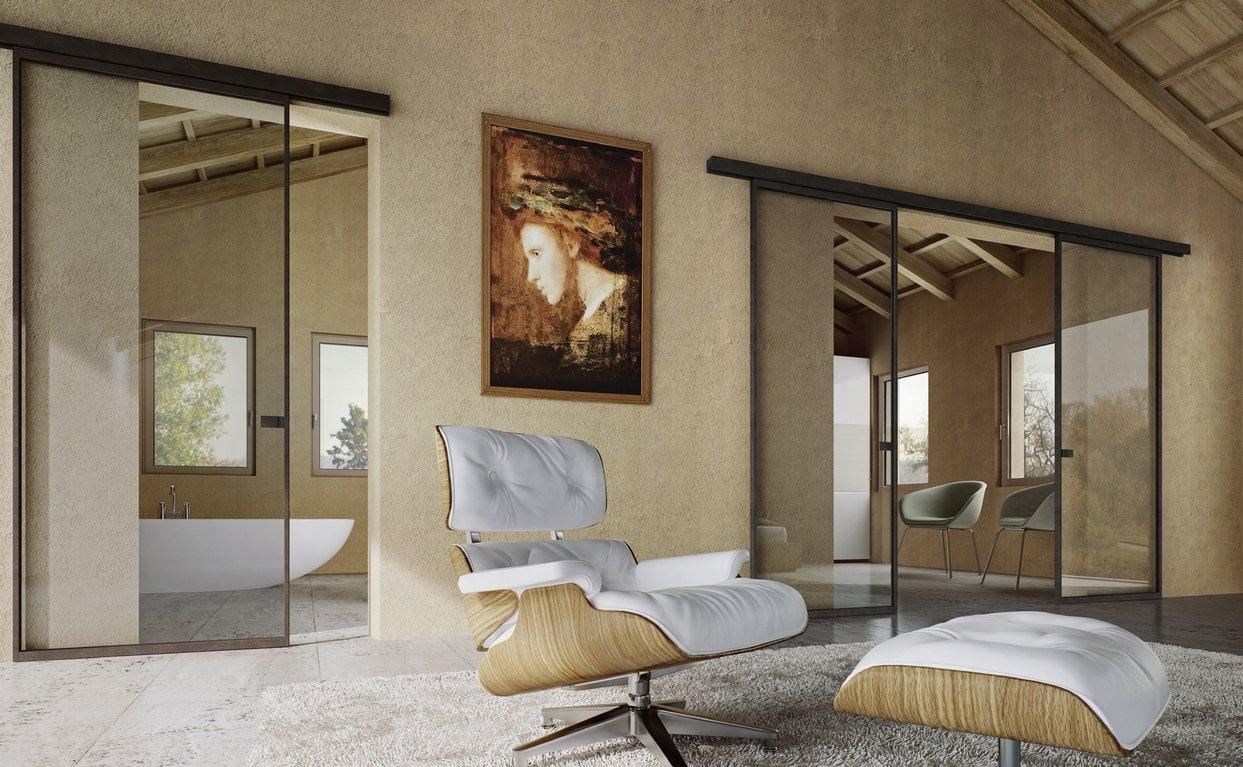 Schiebetüren für ein minimalistisches Interieur