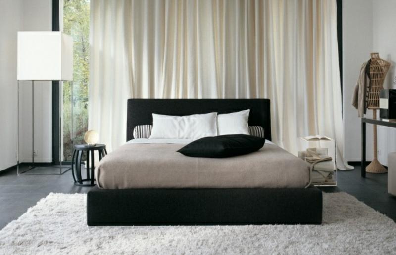 Schlafzimmer weicher Teppich