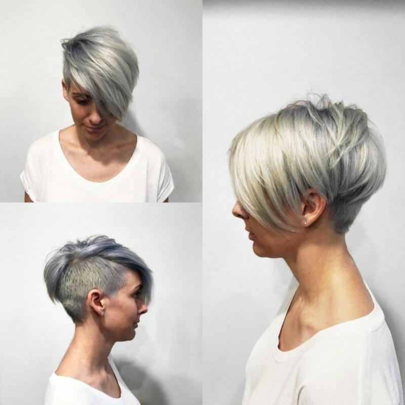 Haare kurz rasieren Frau Sidecut
