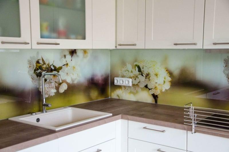 Küche Rückwand mit Fototapete cool