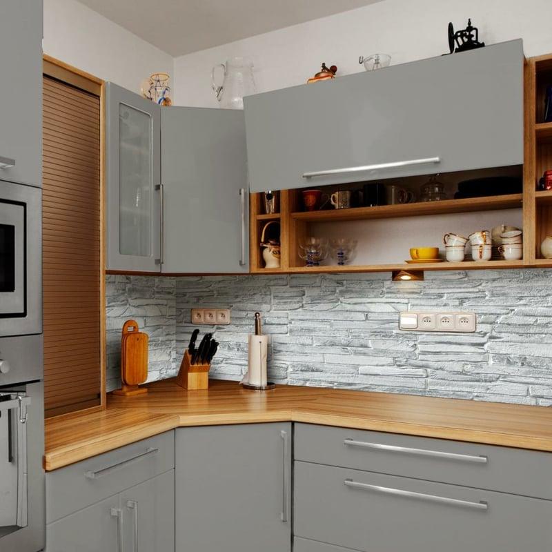 Küchenrückwand Naturstein Imitation