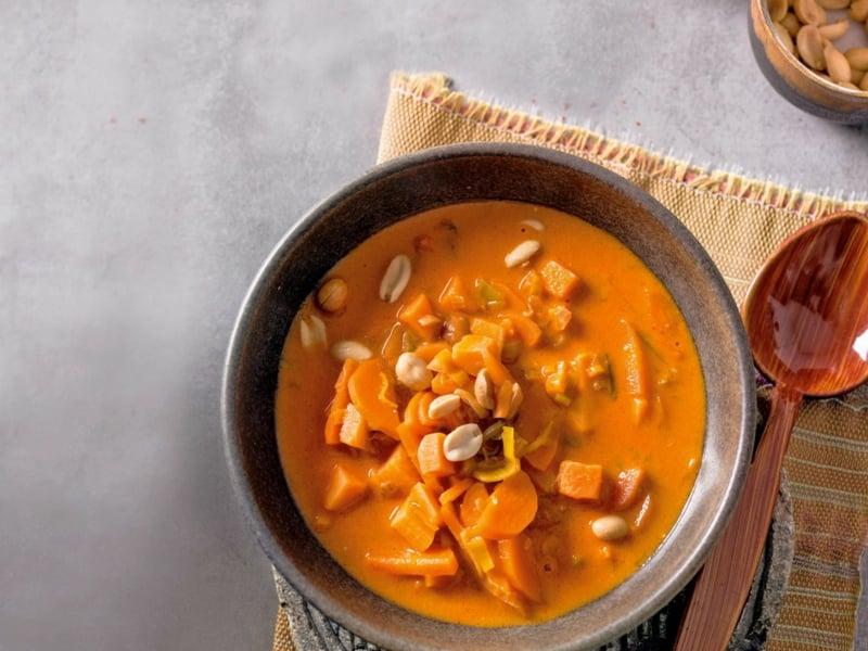 Süßkartoffel Rezepte Jamie Oliver Cremesuppe mit Kürbis