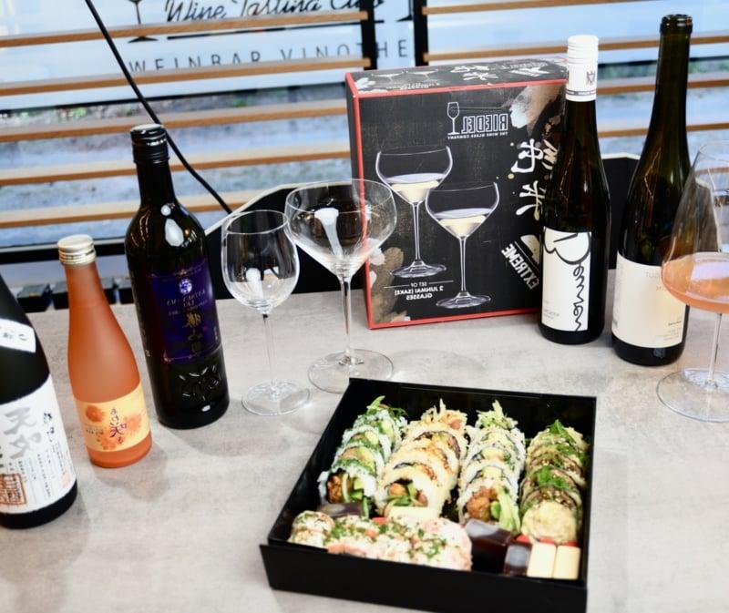 Hennsler Sushi mit Wein genießen