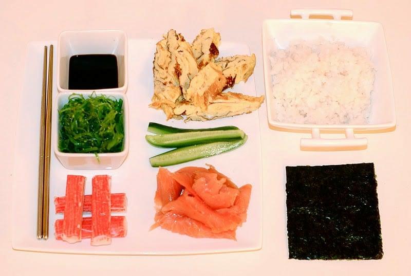 Zutaten für Sushi
