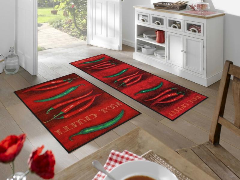 Küchenteppich mit Chilischoten
