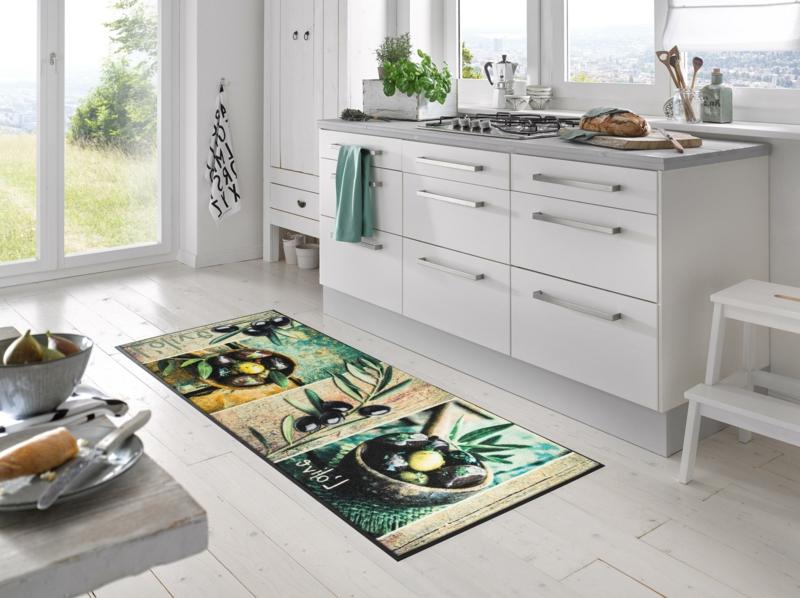Küchenteppich Oliven herrlicher Look