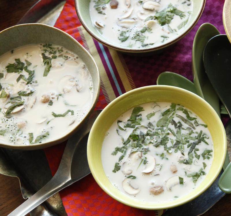 Thailändische Suppe selber machen