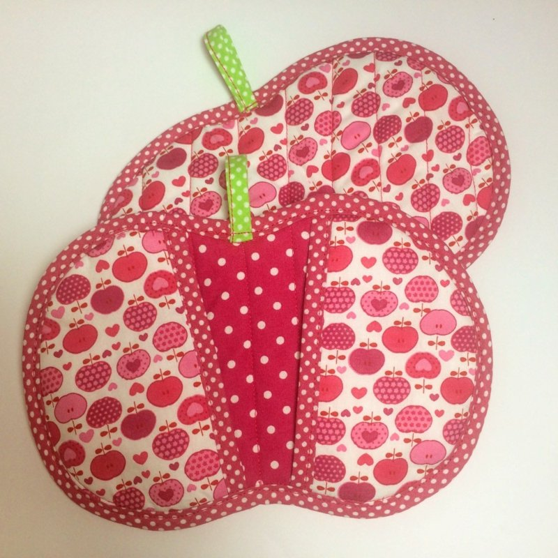 Topflappen nähen Apfel originell