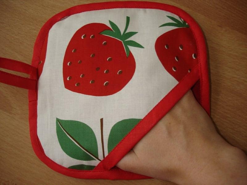 DIY Topflappen Erdbeeren