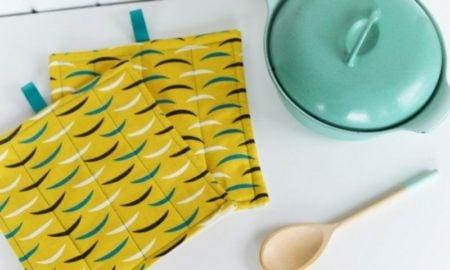 Küche Topflappen gelb
