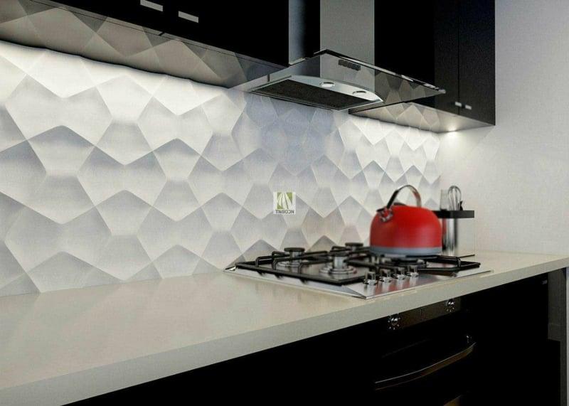 Wandpaneele Küche mit 3D Muster