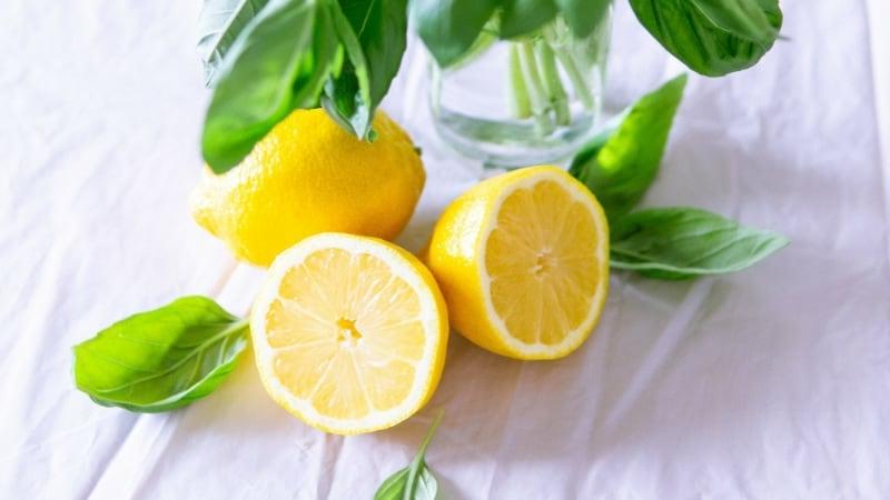 Mitesser Maske DIY mit Zitrone