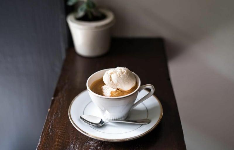 Kaffee Affogato italienische Küche