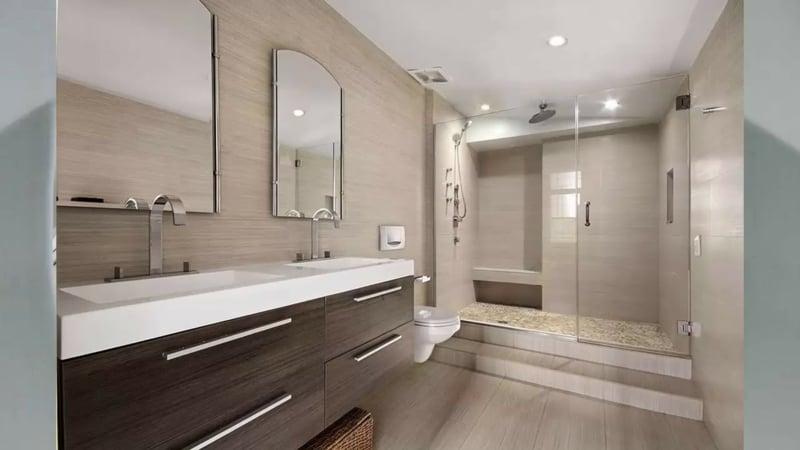 Badezimmer groß stilvoll
