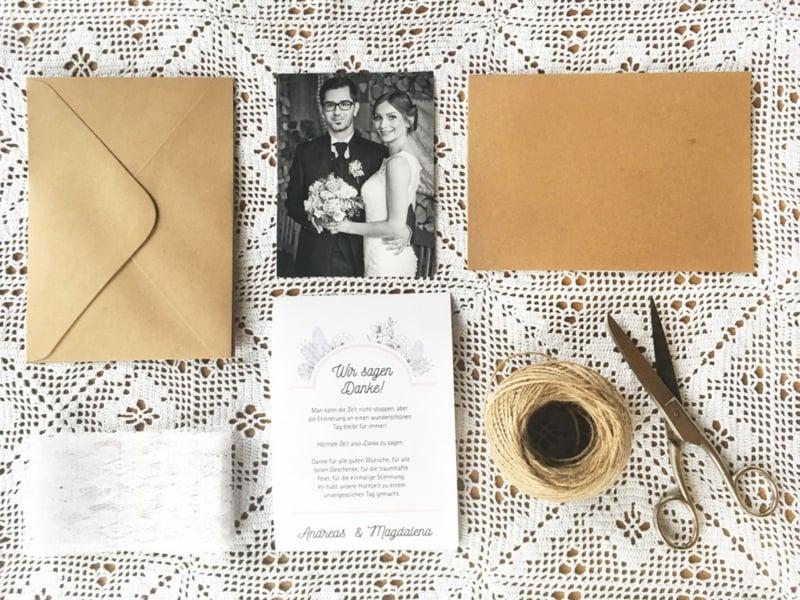 Karten basteln Hochzeit Foto