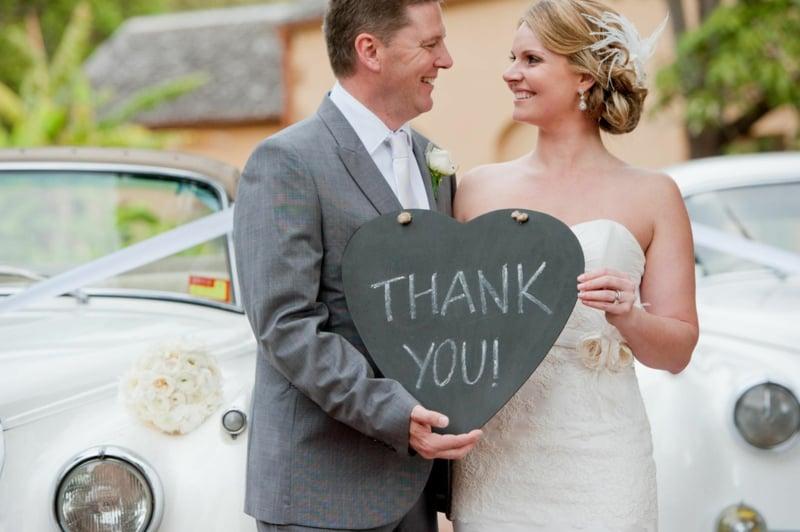 Danke sagen Brautpaar