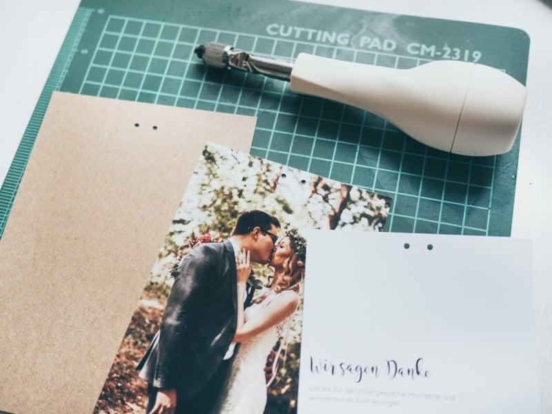 Hochzeit Dankeskarten Bastelanleitung