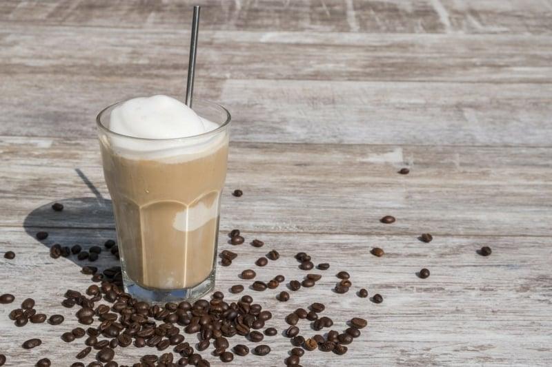 Kaffee mit Eis sehr lecker
