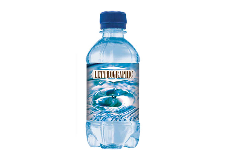 Wasserflaschen bedrucken Firmenlogo