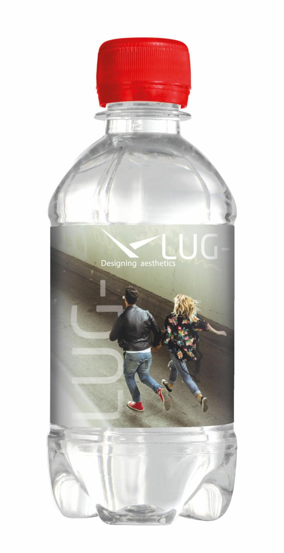 Wasserflaschen bedrucken Design Etiketten