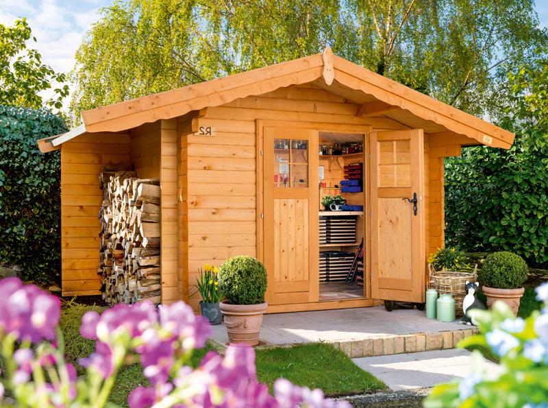 Der Gartenhaus können Sie in ein gemütliches Gästehaus verwandeln