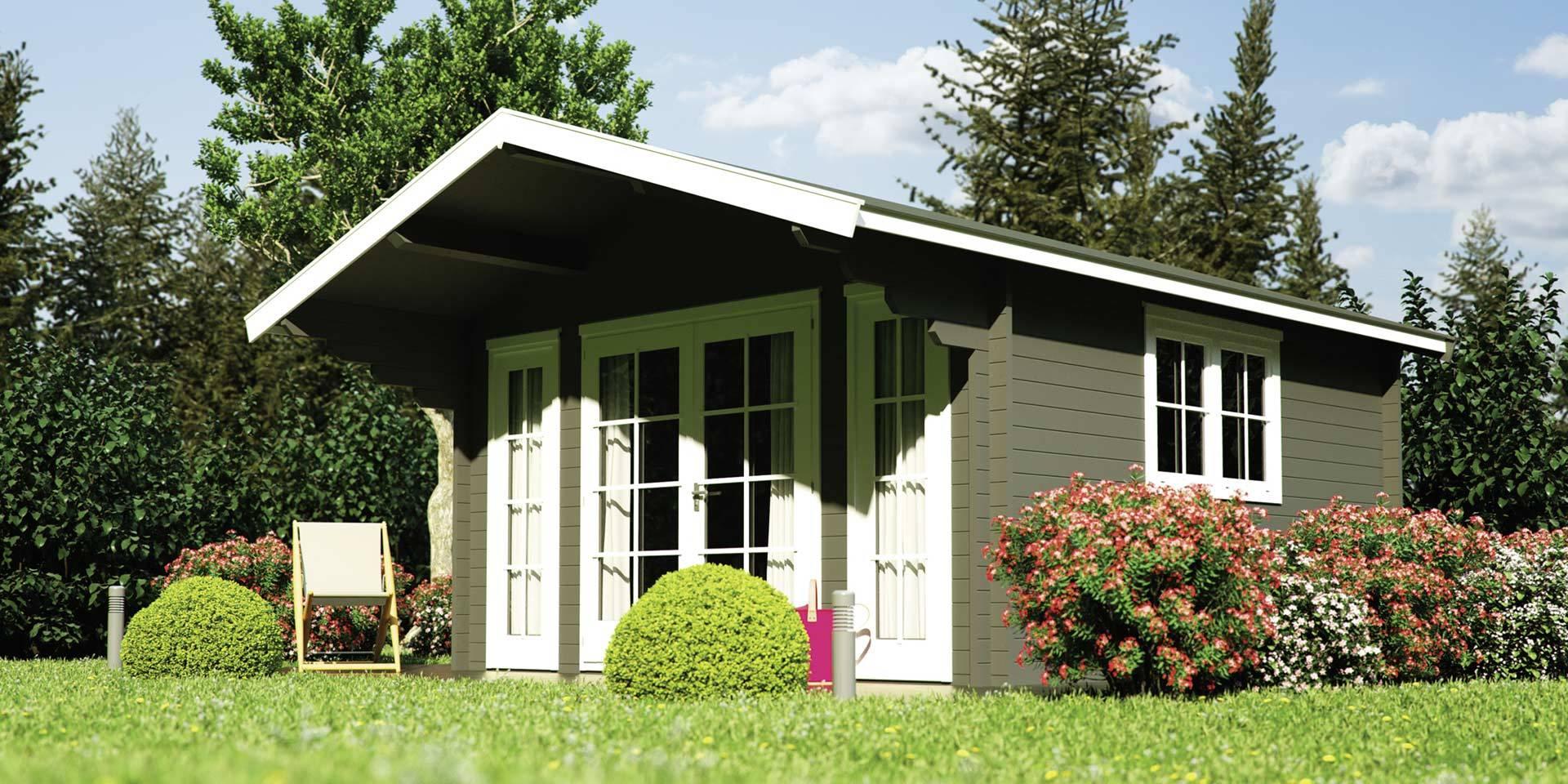 Moderna Gartenhäuser können multifunktional sein