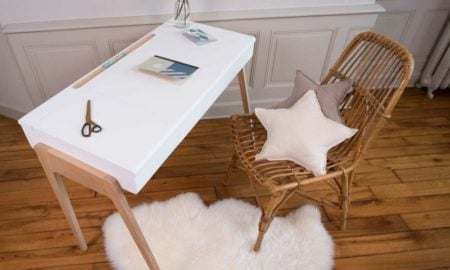 Schreibtisch im skandinavischen Stil weisse Arbeitsplatte