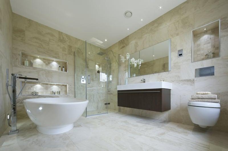 Luxus Badezimmer Wände Marmor