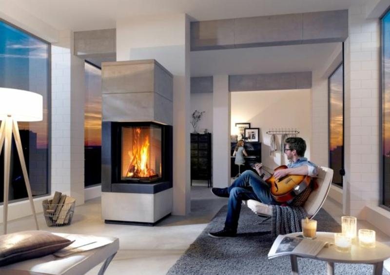 Bioethanol Kamin im Wohnzimmer