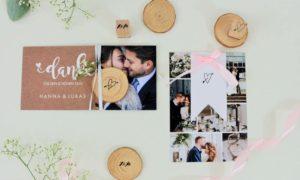 Hochzeit Dankeskarten