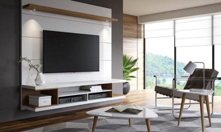 Luxuriösen TV Stand in weiß