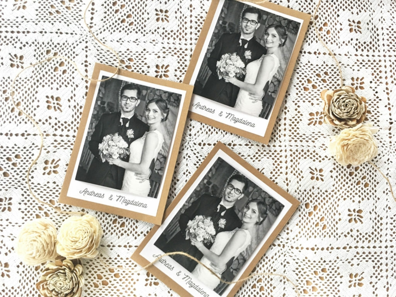 Hochzeit Dankeskarten selber basteln