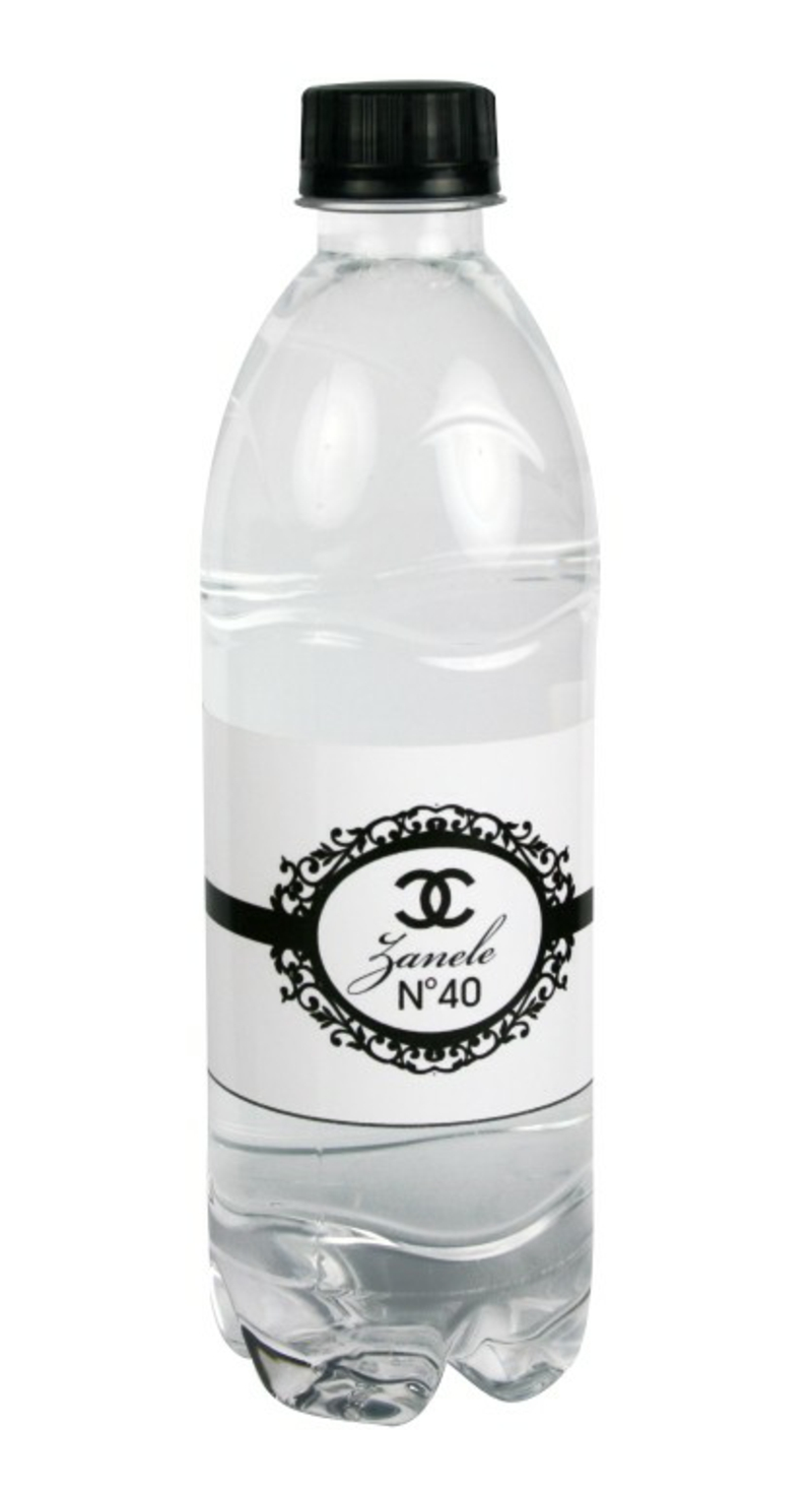 Plastikflasche tolle Etikette