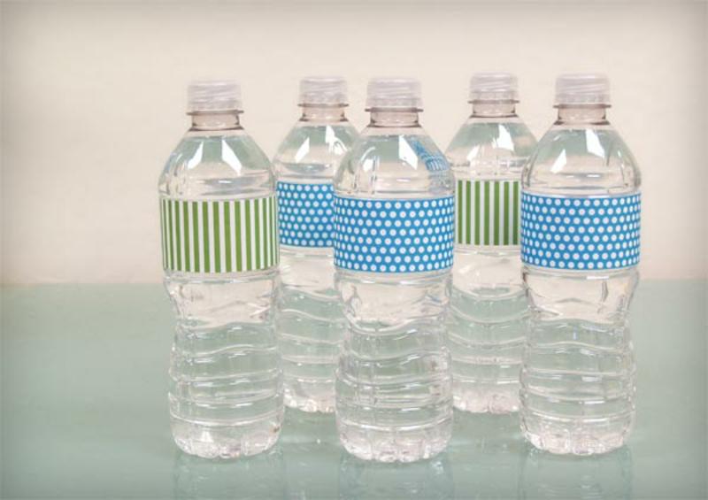 Wasserflaschen beducken tolle Ideen