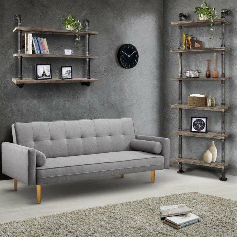 Wohnzimmer industriell praktische Regale