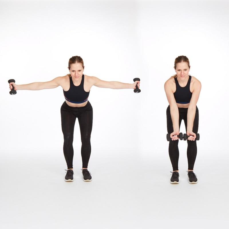 Übungen Ärme udnd Schulter Fett abnehmen Muskeln aufbauen