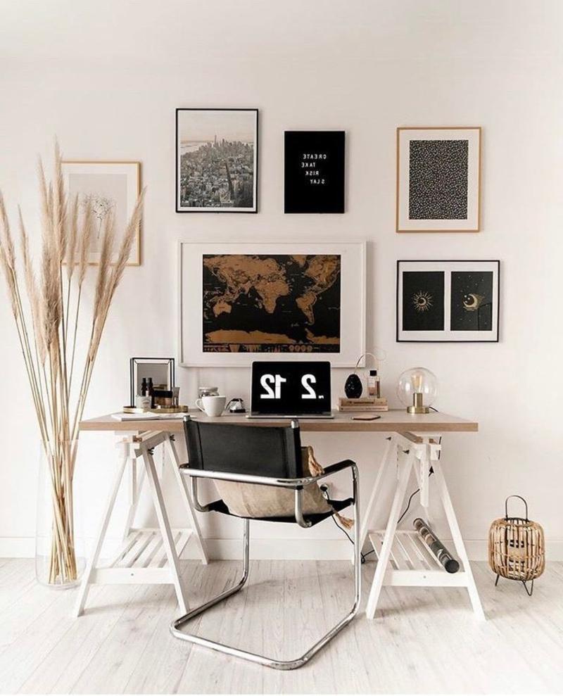Arbeitszimmer schön dekorieren Ziergräser
