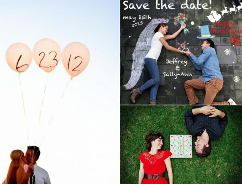 kreative und lustige Ideen Save the Date Karten