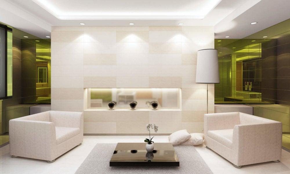 Beleuchtung für das Wohnzimmer: angenehme Grundhelligkeit