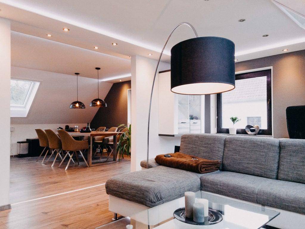 Stilvolle Ideen für die Beleuchtung für das Wohnzimmer