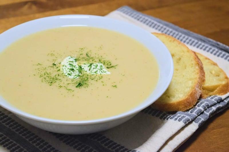 Suppe passieren Kartoffeln
