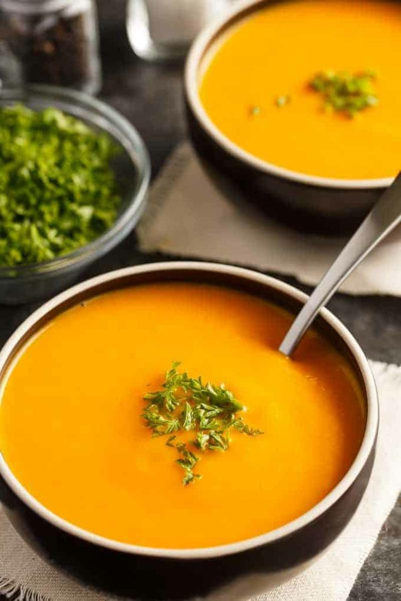 Suppe passieren Möhrensuppe lecker
