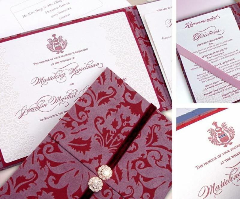 Hochzeit Einladungen gestalten edles Papier